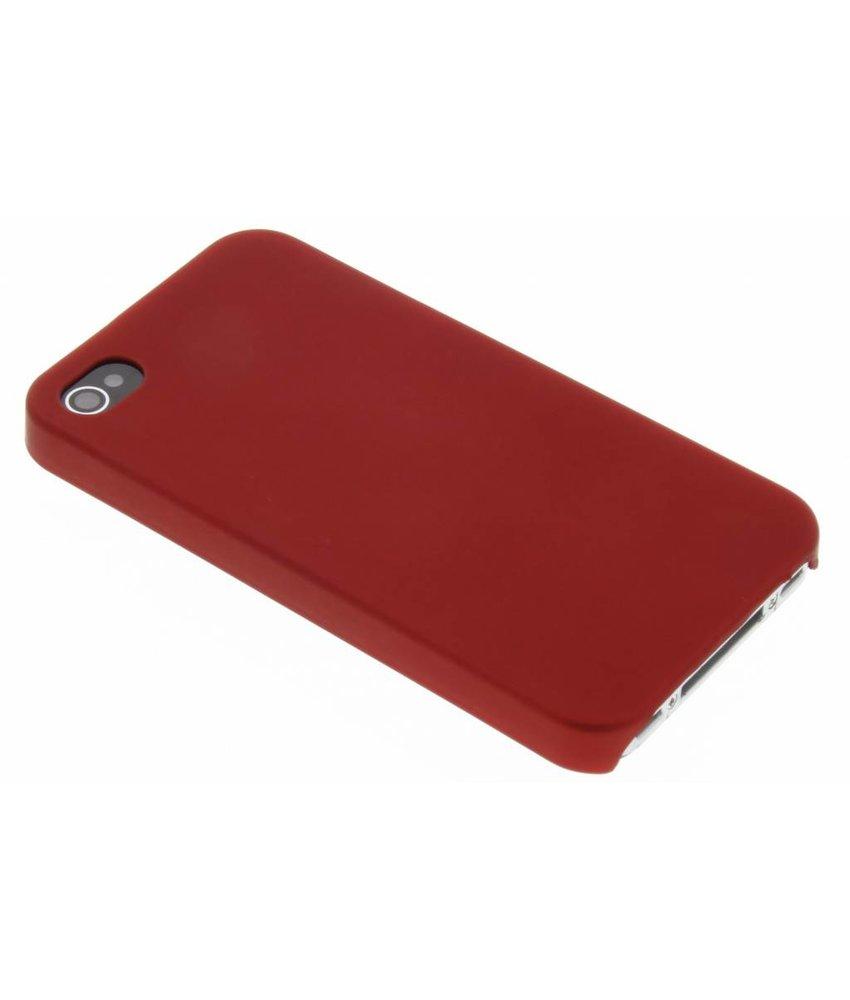 Rood effen hardcase iPhone 4 / 4s