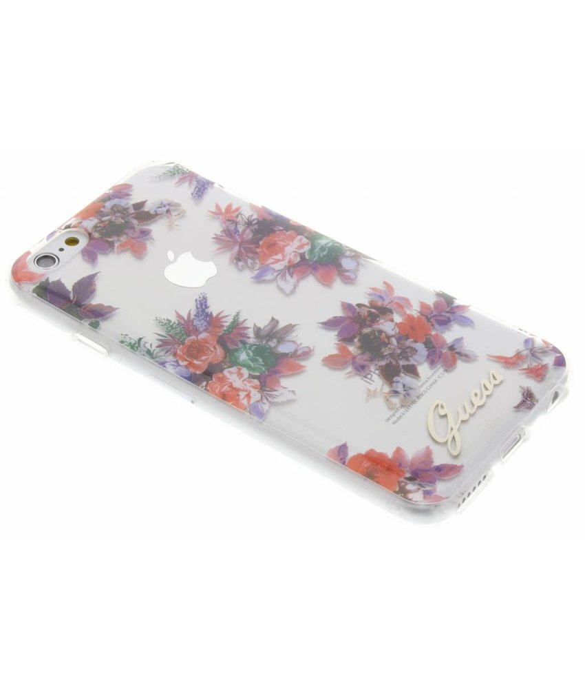 Guess Blossom TPU Case iPhone 6 / 6s - Transparant