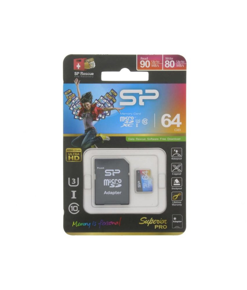 Silicon Power Superior Pro 64GB geheugenkaart
