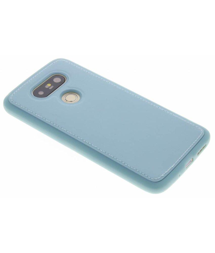 Blauw lederen TPU case LG G5 (SE)