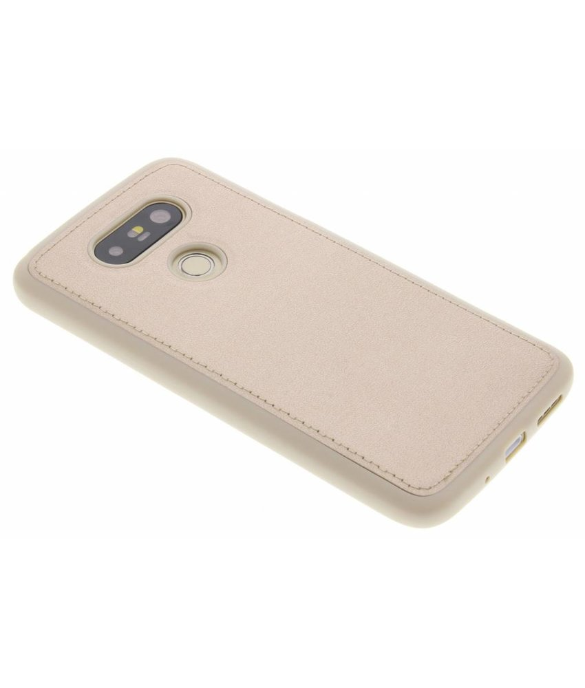 Goud metallic lederen TPU Case LG G5 (SE)
