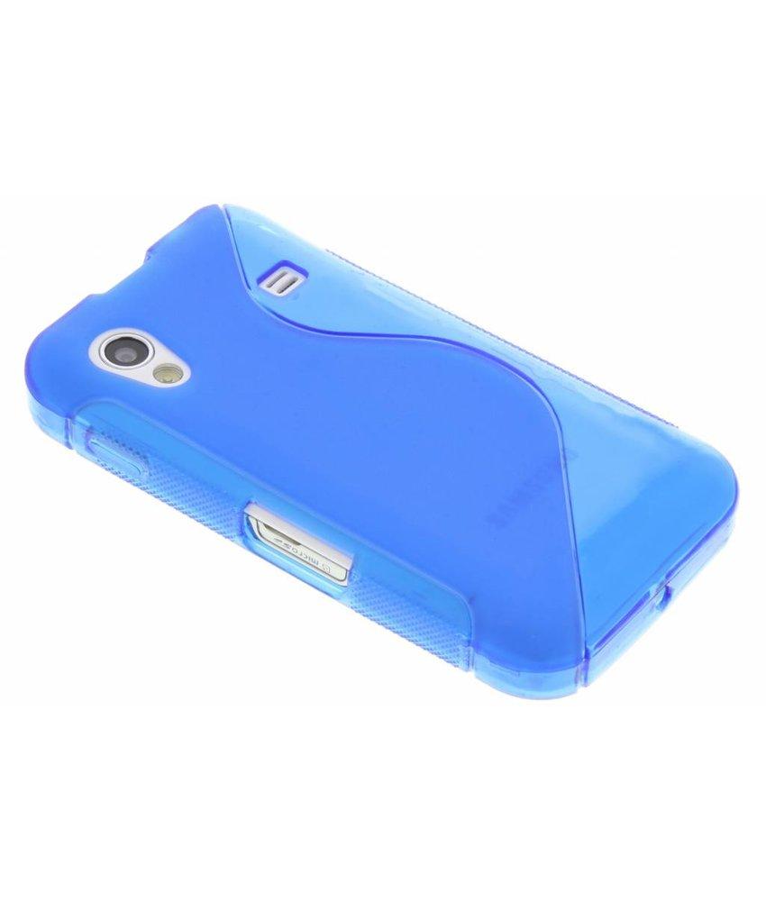 Blauw S-line TPU hoesje Samsung Galaxy Ace