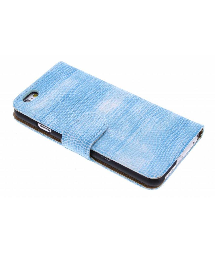 Turquoise hagedis design booktype hoes iPhone 6(s) Plus
