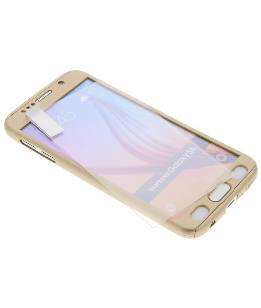 Goud 360° effen protect case Samsung Galaxy S6