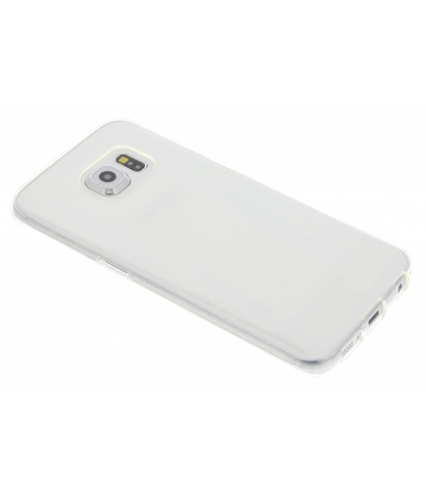 Accezz TPU Clear Cover + Glass Protector Samsung Galaxy S6 Edge