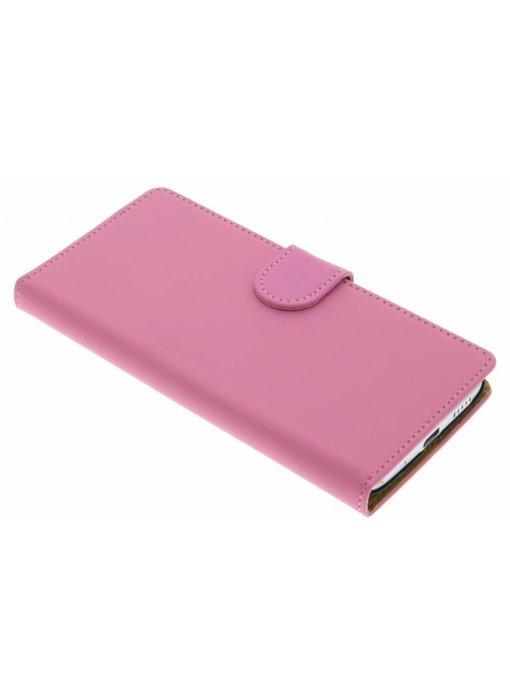 Roze effen booktype hoes HTC 10