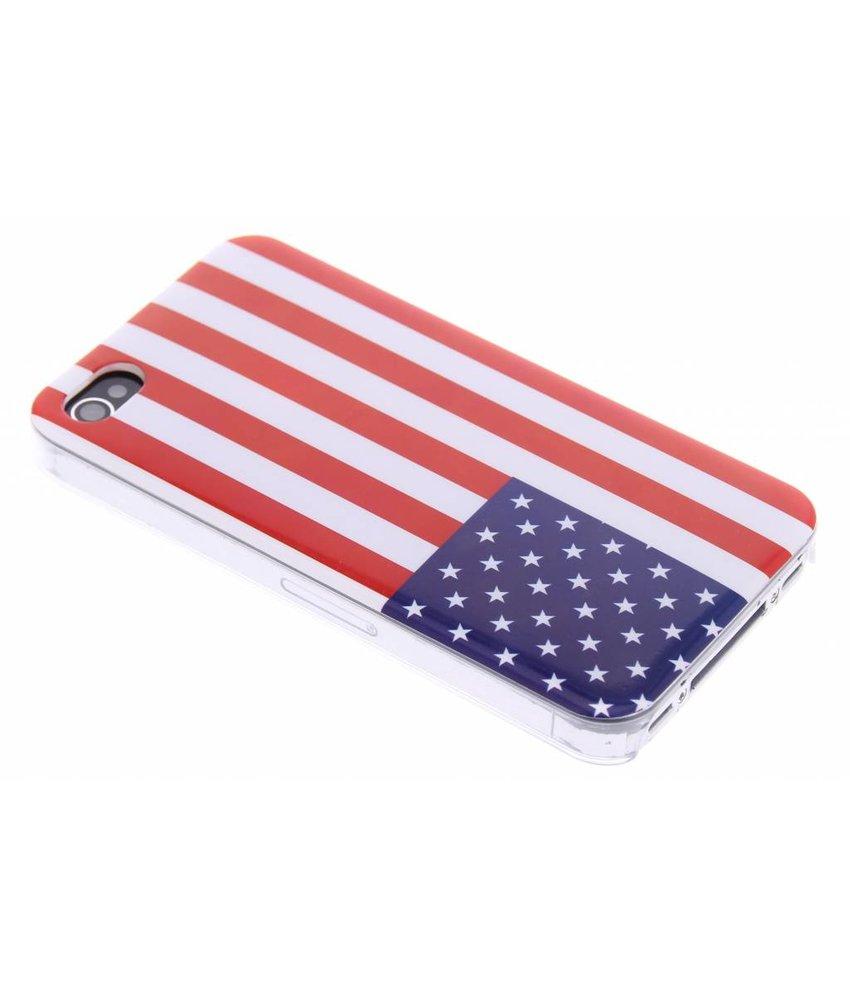 Amerikaanse vlag hardcase hoesje iPhone 4 / 4s