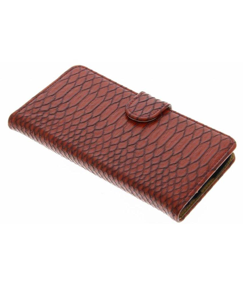 Rood slangen booktype hoes LG K10