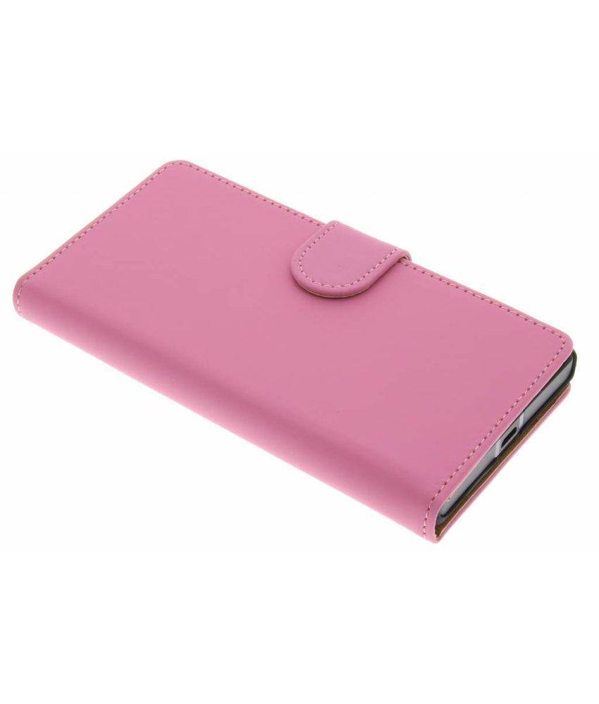 Roze effen booktype hoes Nokia Lumia 930