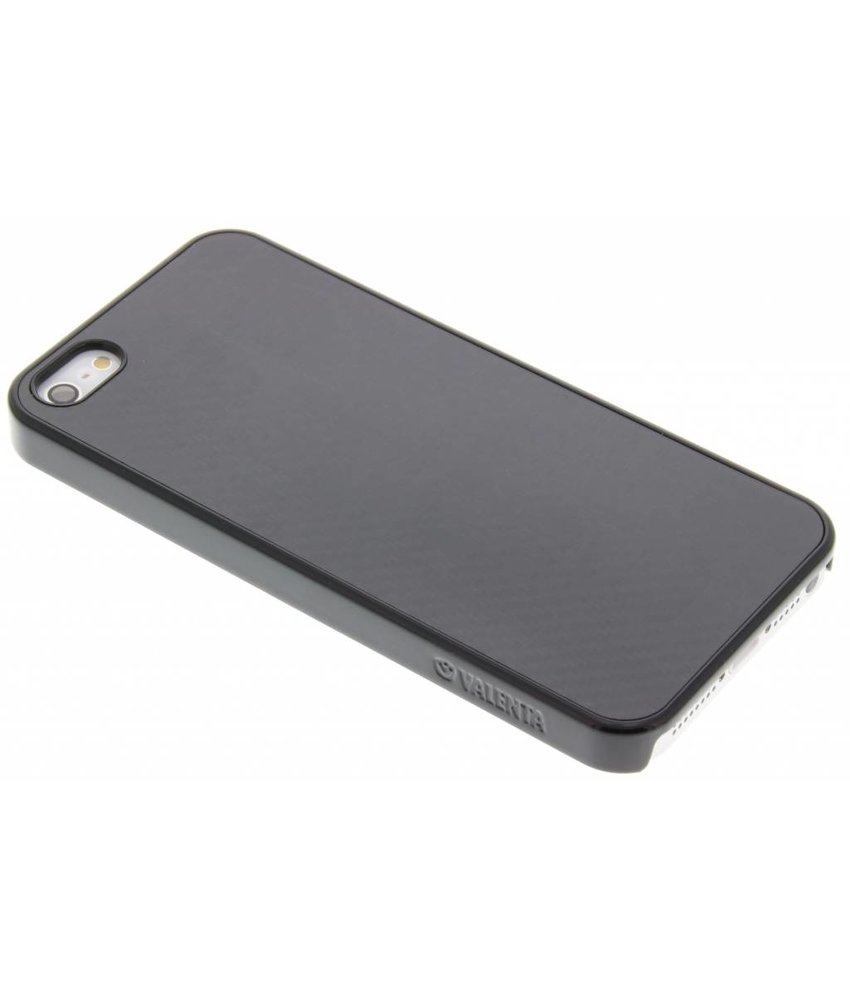 Valenta Click-on Carbon Case iPhone 5 / 5s / SE - Zwart