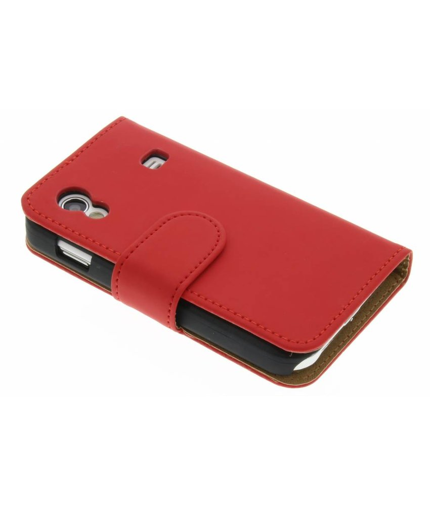 Rood effen booktype hoes Samsung Galaxy Ace