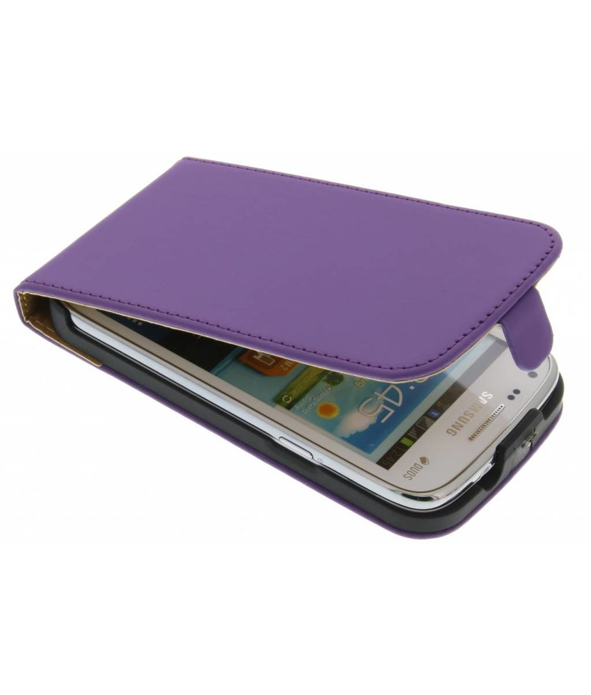 Paars luxe flipcase Samsung Galaxy Core