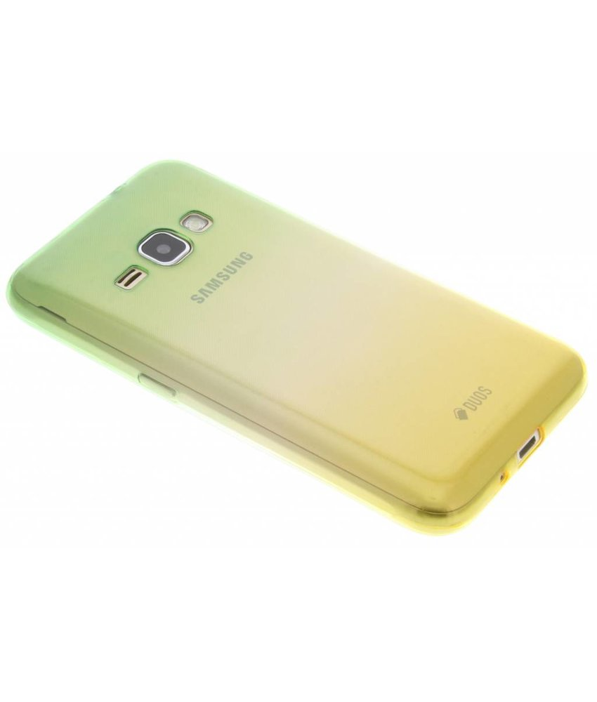 Tweekleurig TPU siliconen hoesje Samsung Galaxy J1 (2016)