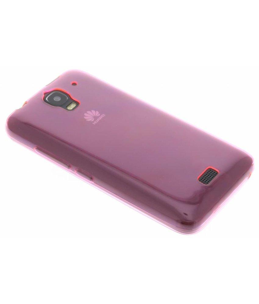 Roze ultra thin transparant TPU hoesje Huawei Y360