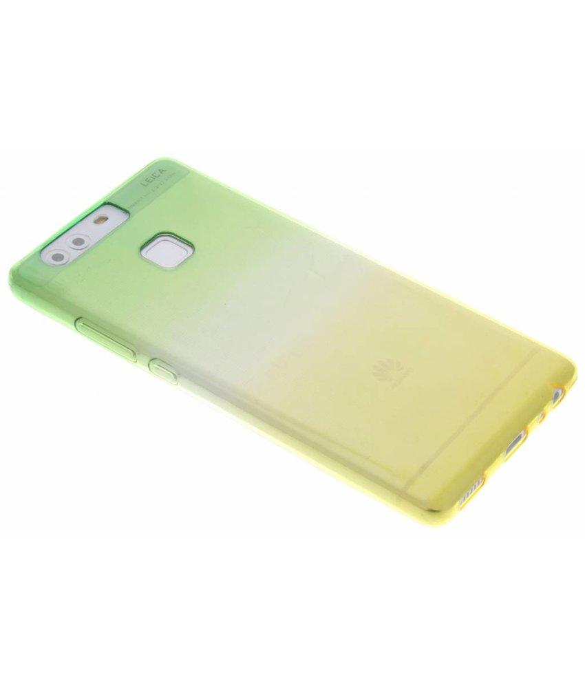 Tweekleurig TPU siliconen hoesje Huawei P9