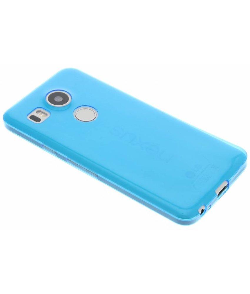 Blauw ultra thin transparant TPU hoesje LG Nexus 5X