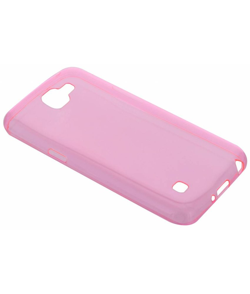 Roze ultra thin transparant TPU hoesje LG K4