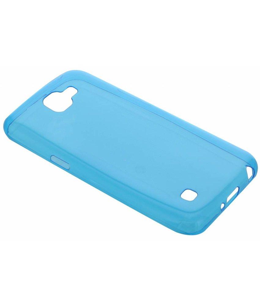 Blauw ultra thin transparant TPU hoesje LG K4