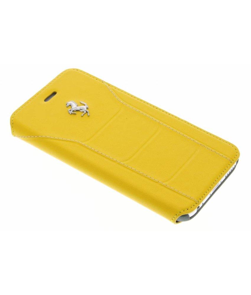 Ferrari Leather Booktype Case iPhone 6 / 6s - Geel
