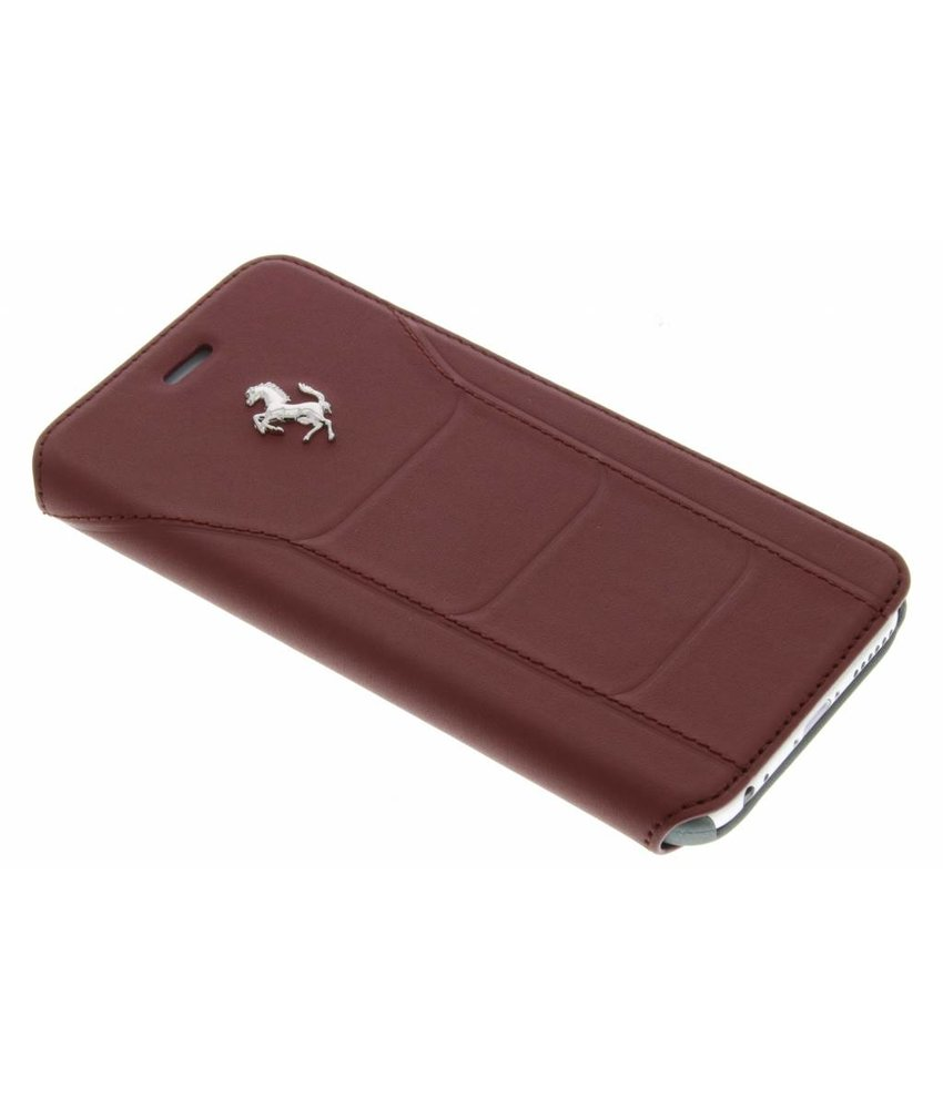 Ferrari Leather Booktype Case iPhone 6 / 6s - Bordeauxrood