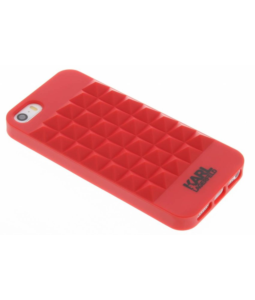 Karl Lagerfeld 3D Studs TPU Case iPhone 5 / 5s / SE - Rood