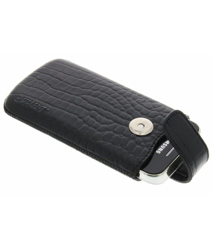 Valenta Universele Pocket Lucca Croco insteekhoes maat S - Zwart