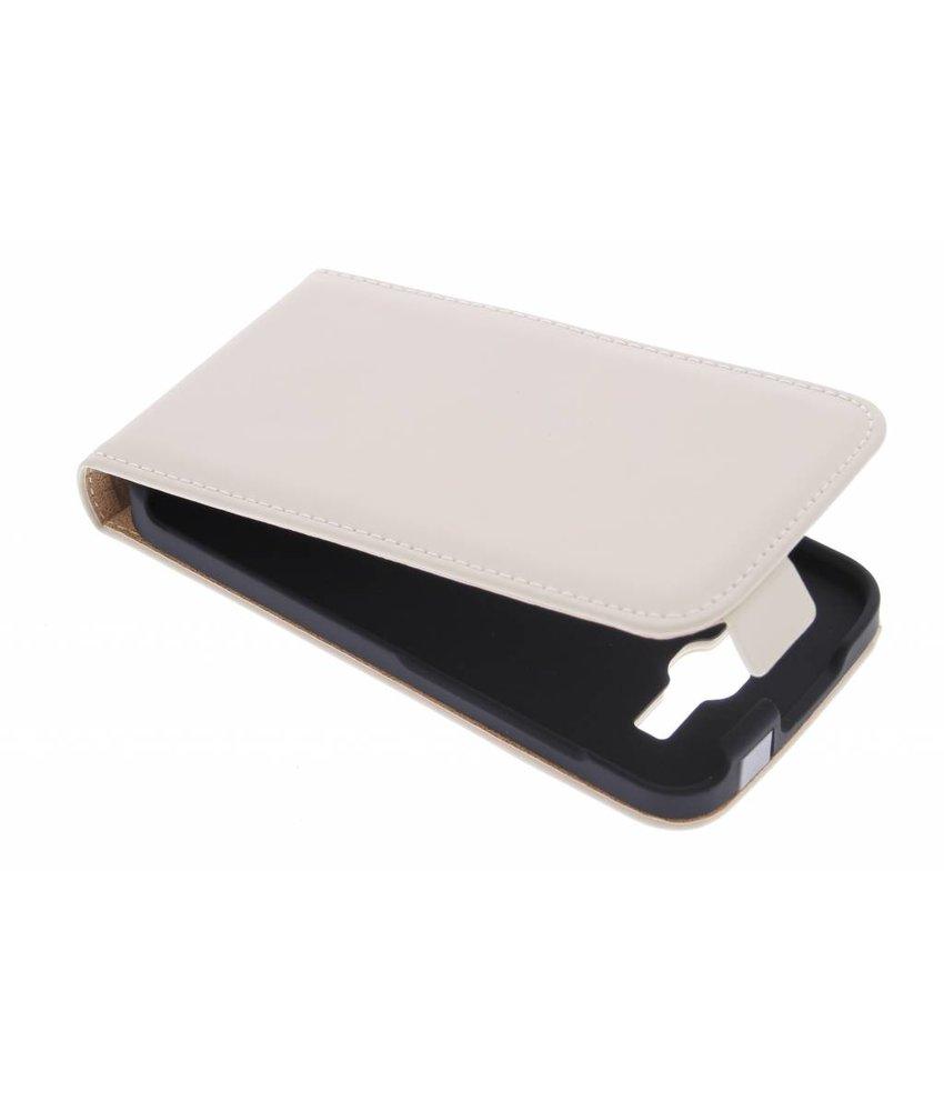 Selencia Luxe Flipcase Huawei Ascend Y540 - Gebroken wit