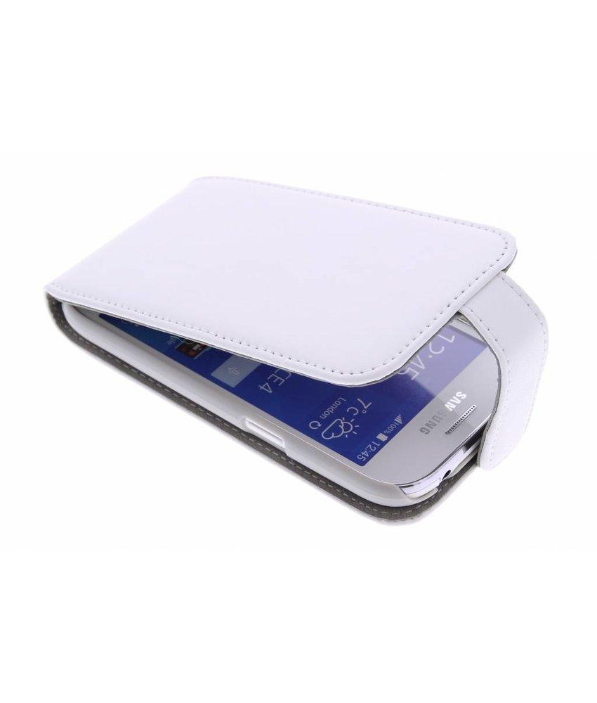 Wit stijlvolle flipcase Samsung Galaxy Ace 4