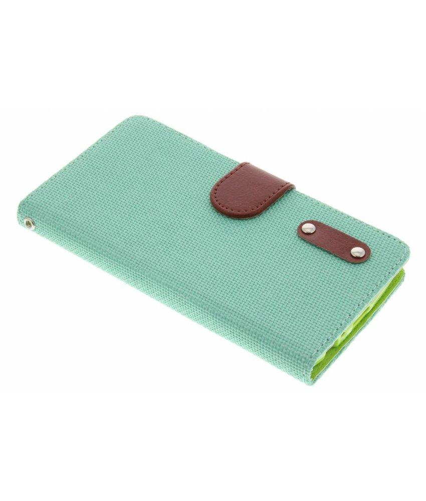 Groen linnen look TPU booktype hoes LG G3