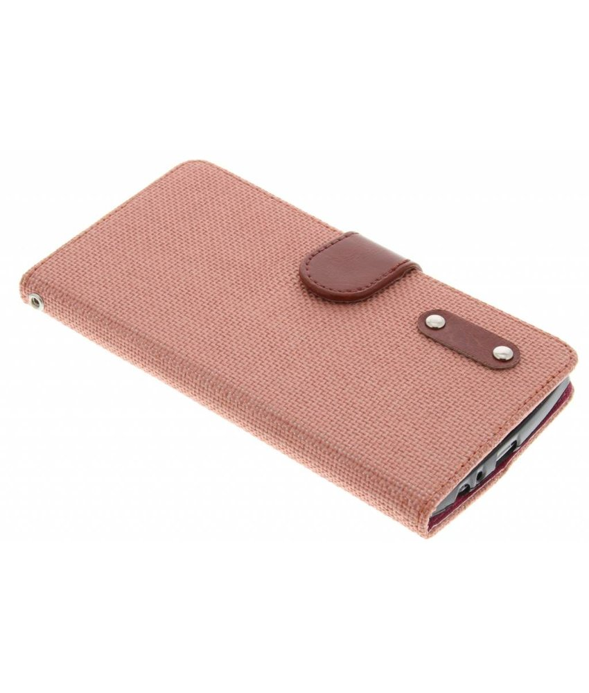 Linnen look TPU booktype hoes LG G4
