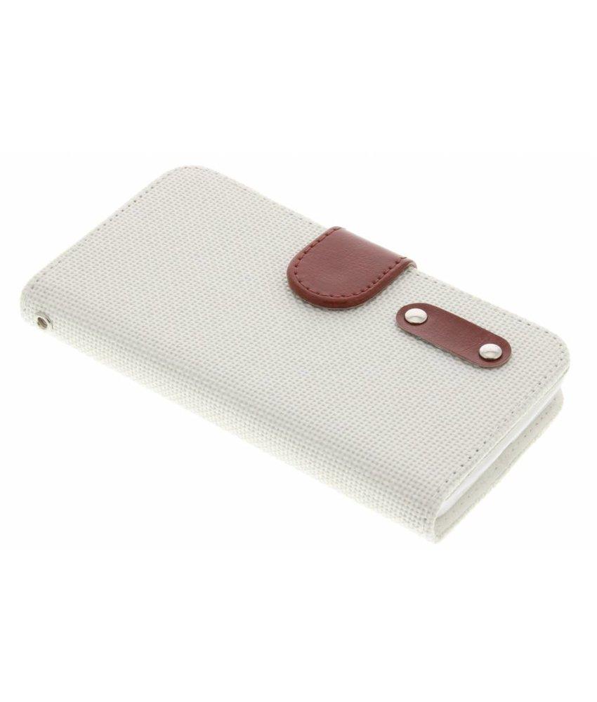 Linnen look TPU booktype Nokia Lumia 630 / 635