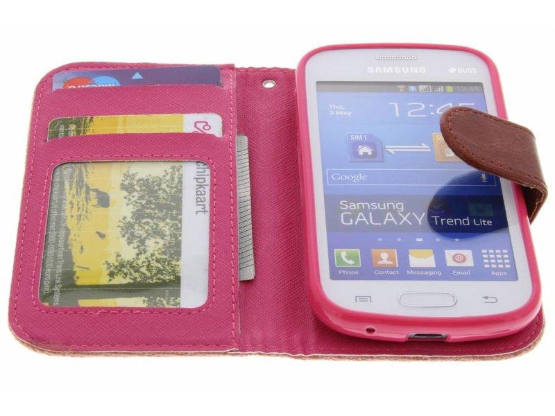 Regarder Le Saumon Rose Lin Cas Booktype Tpu Lite Tendance Samsung Galaxy ETIOK