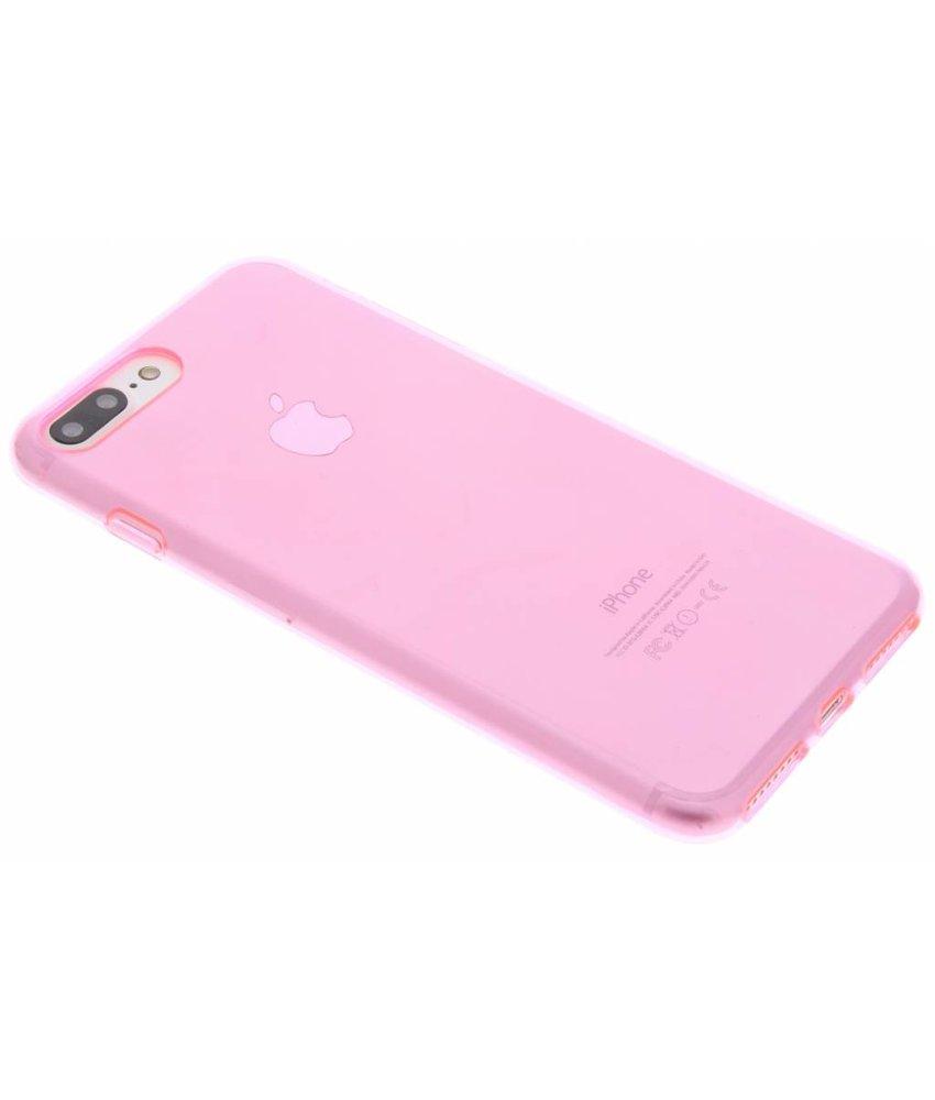 Roze transparant gel case iPhone 7 Plus