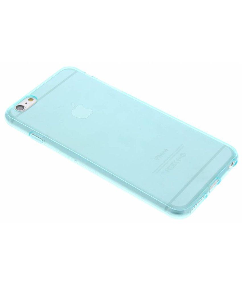 Turquoise transparant gel case iPhone 6(s) Plus
