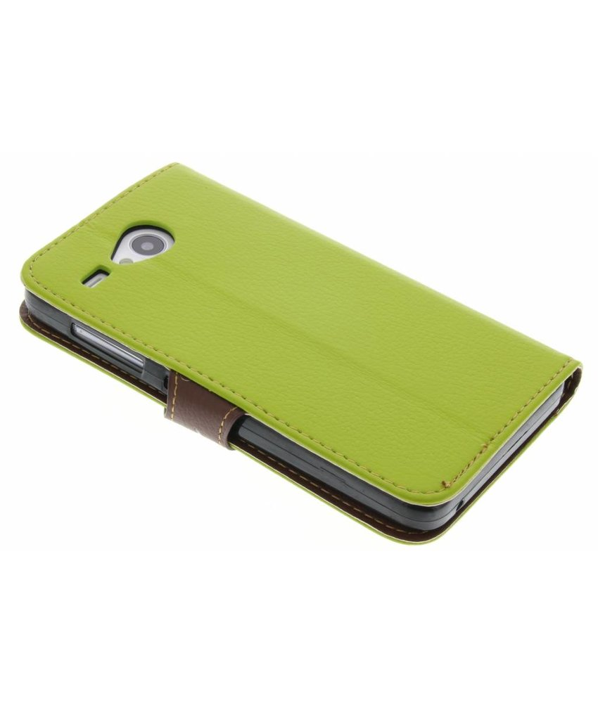 Groen blad design TPU booktype hoes HTC One M9