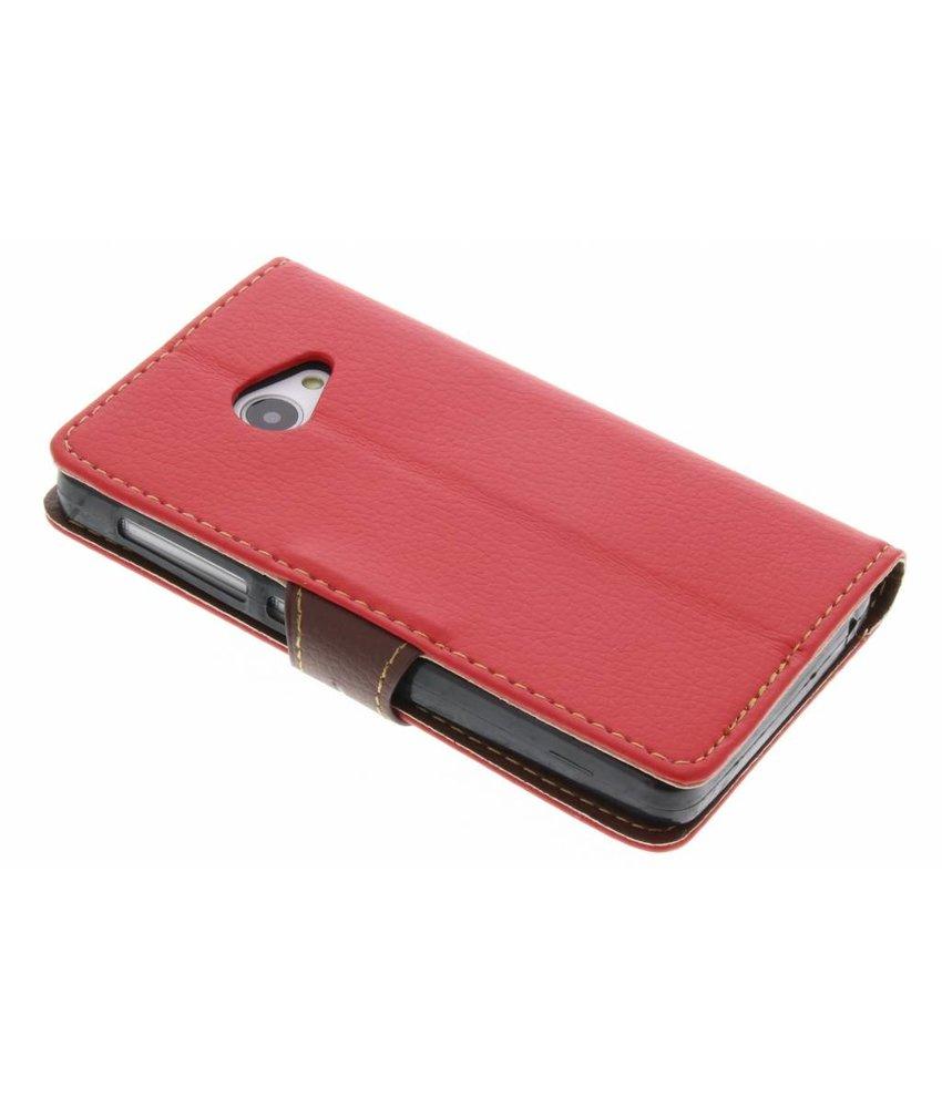 Rood blad design TPU booktype hoes Acer Liquid Z220