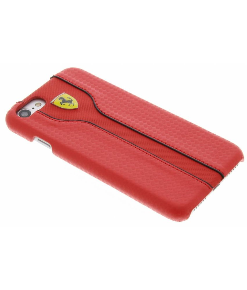 Ferrari Racing Carbon Leather Hard Case iPhone 7 - Rood