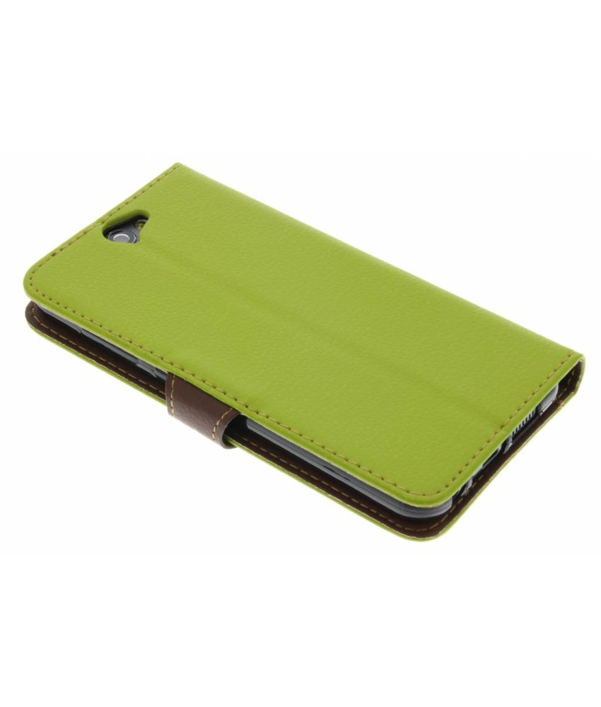 Groen blad design TPU booktype hoes HTC One A9