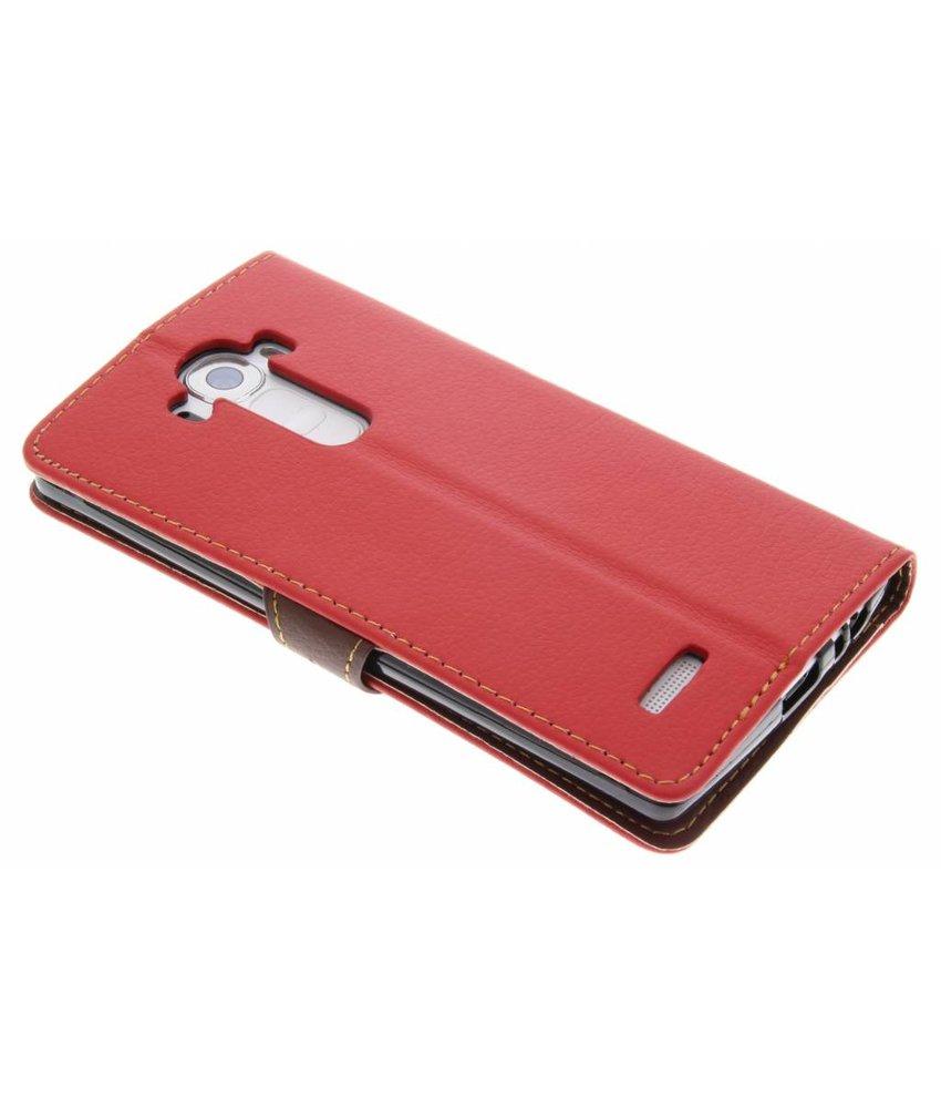 Rood blad design TPU booktype hoes LG G4