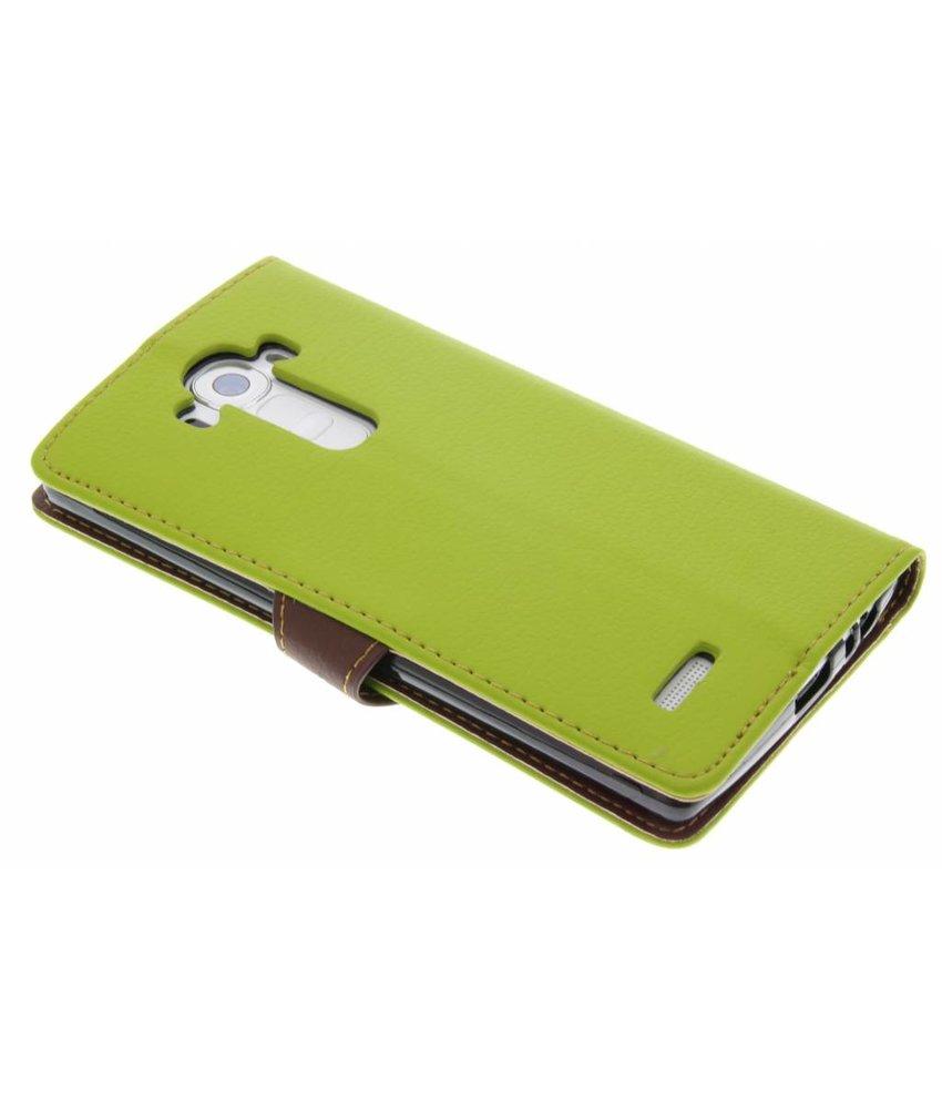 Groen blad design TPU booktype hoes LG G4