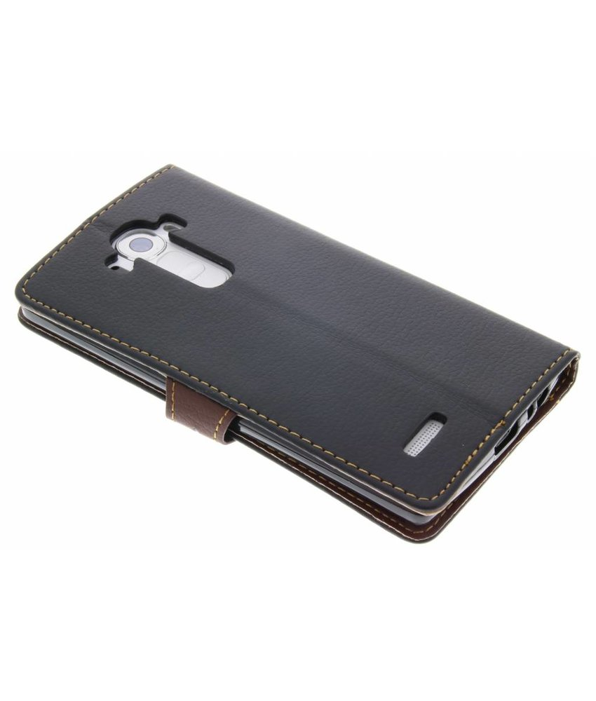 Zwart blad design TPU booktype hoes LG G4