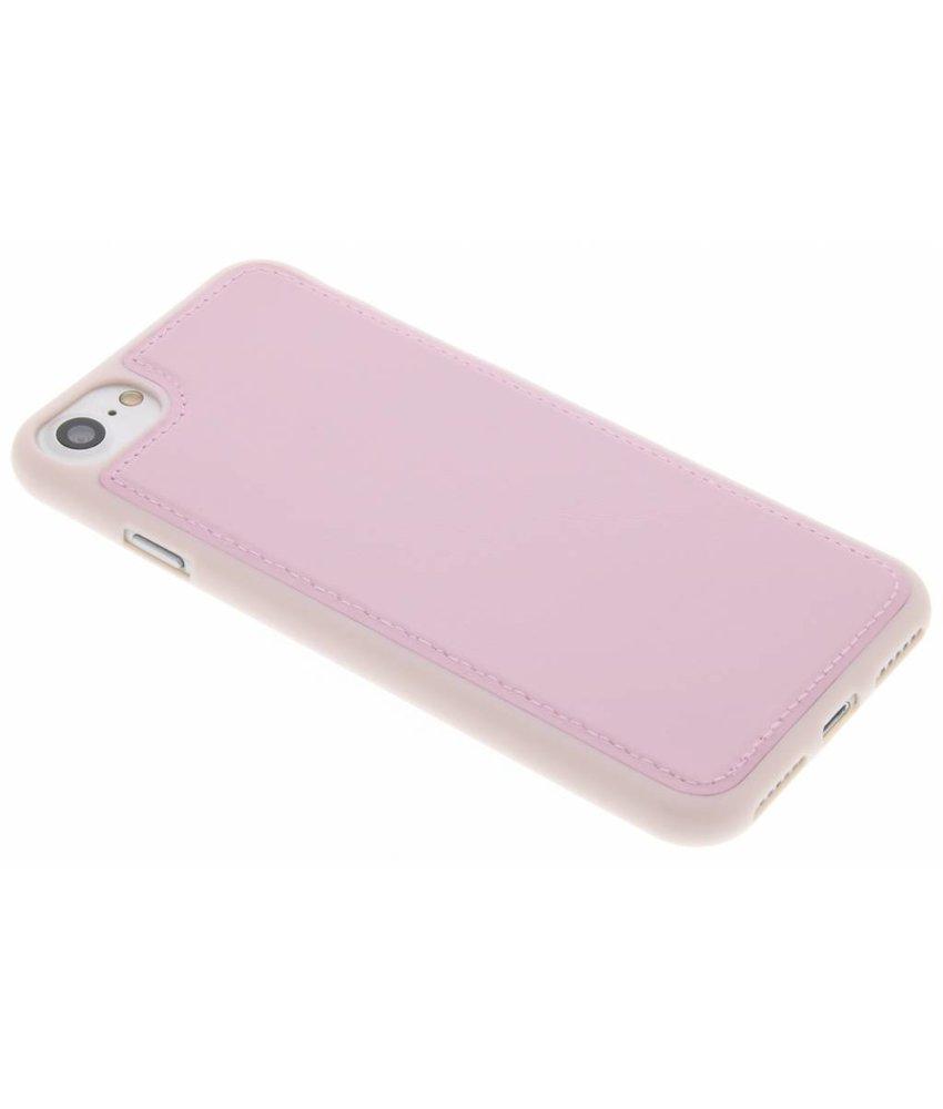 Roze lederen TPU case iPhone 7