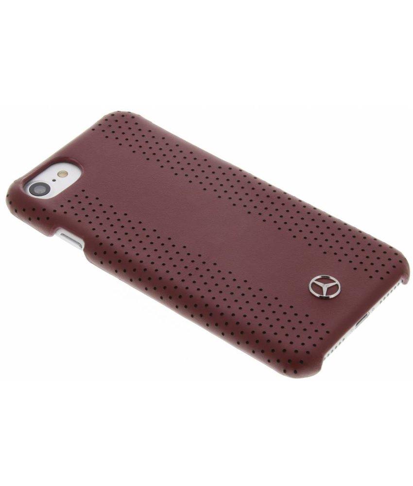 Mercedes-Benz Geperforeerde lederen hardcase iPhone 8 / 7 - Rood