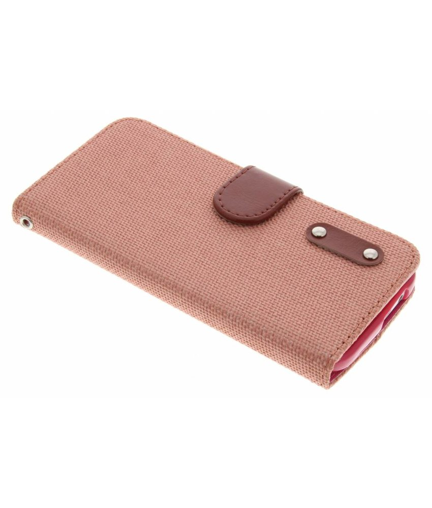 Linnen look TPU booktype hoes HTC One M8 / M8s