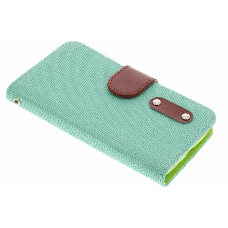 Groen linnen look TPU booktype hoes LG L70