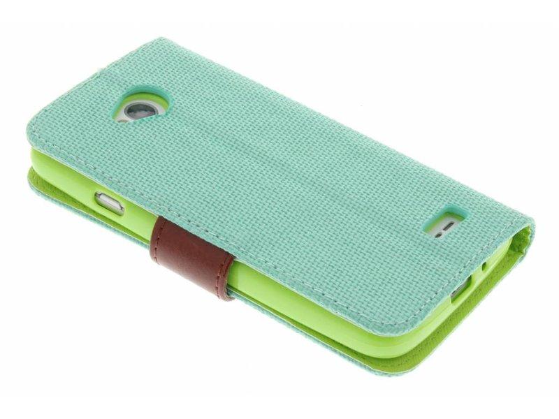 LG L70 hoesje - Groene linnen look TPU
