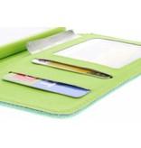 Groene linnen look TPU booktype hoes voor de LG L70