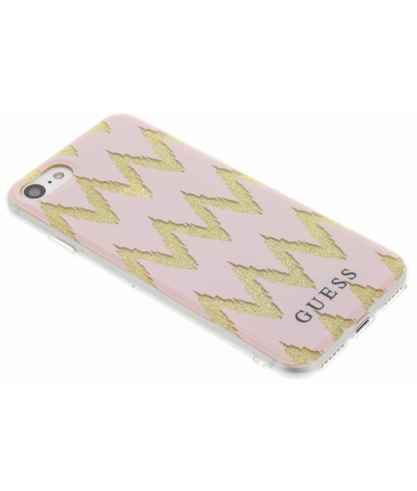 Guess Chevron Gel Case iPhone 8 / 7 - Roze