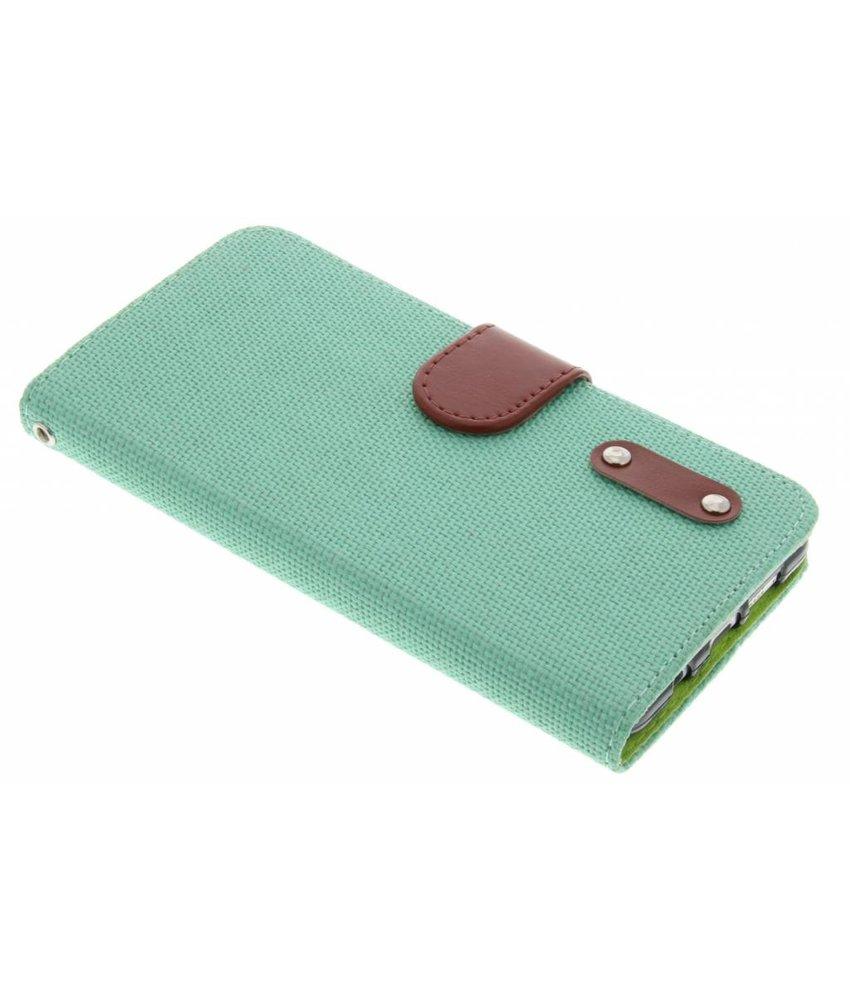 Groen linnen look TPU booktype hoes Samsung Galaxy A5 (2016)