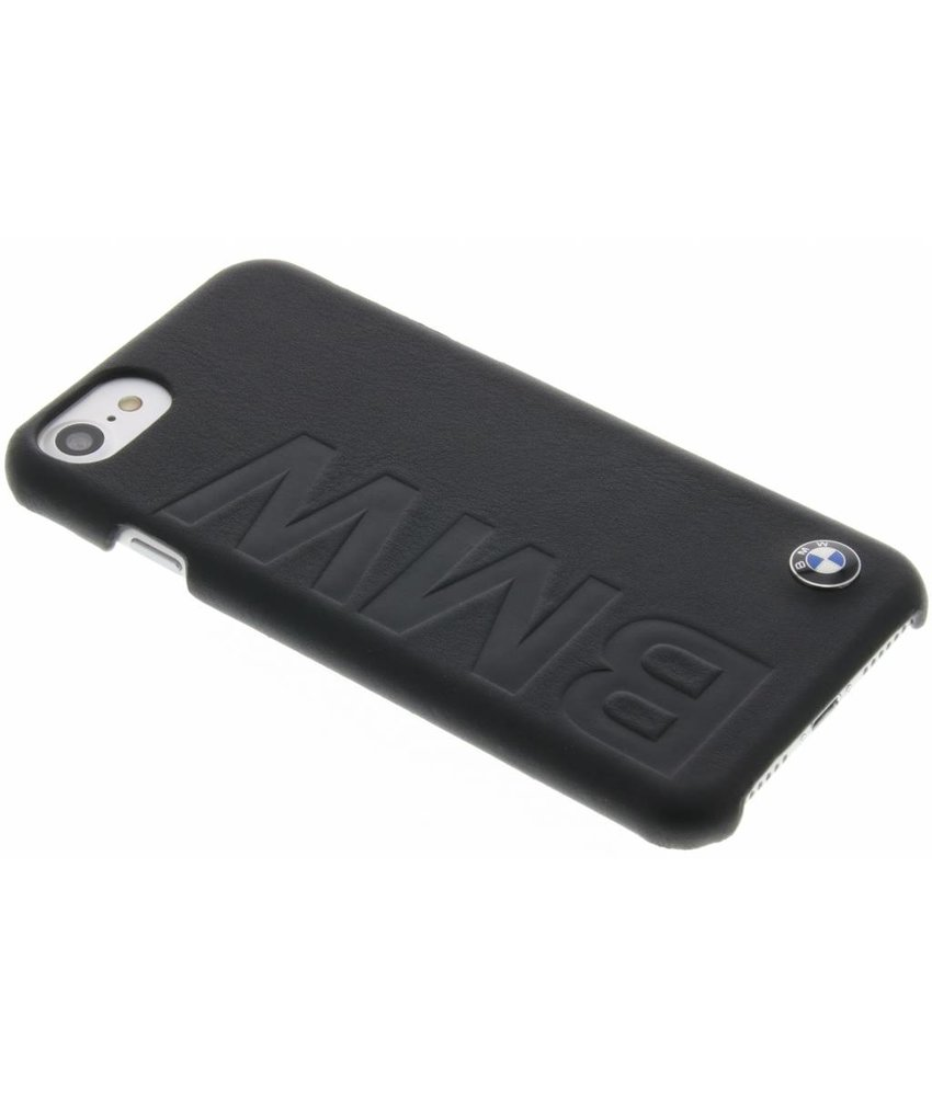 BMW Real Leather Hard Case iPhone 7 - Zwart